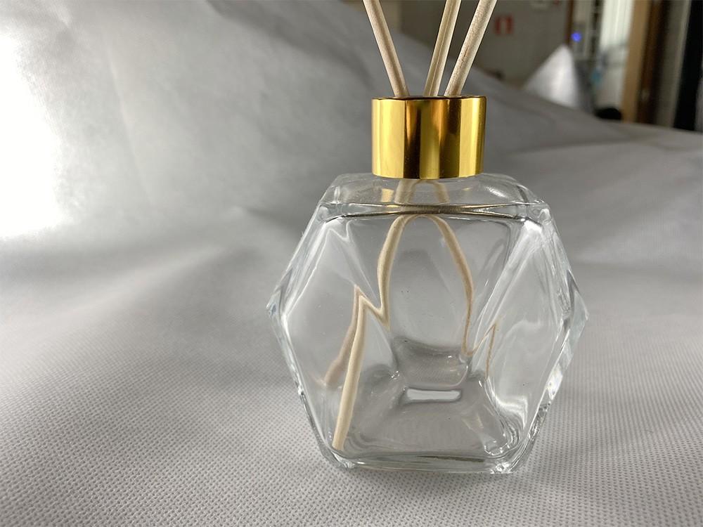 Frasco de Vidro para Aromatizador e Difusor 200 ml Sextavado Cristal 2 unid