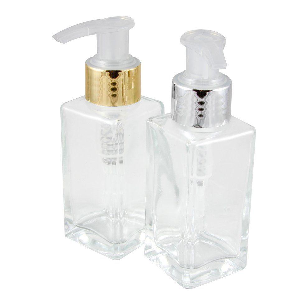 Frasco de vidro para Sabonete Líquido 60 ml Retangular kit 10 unid