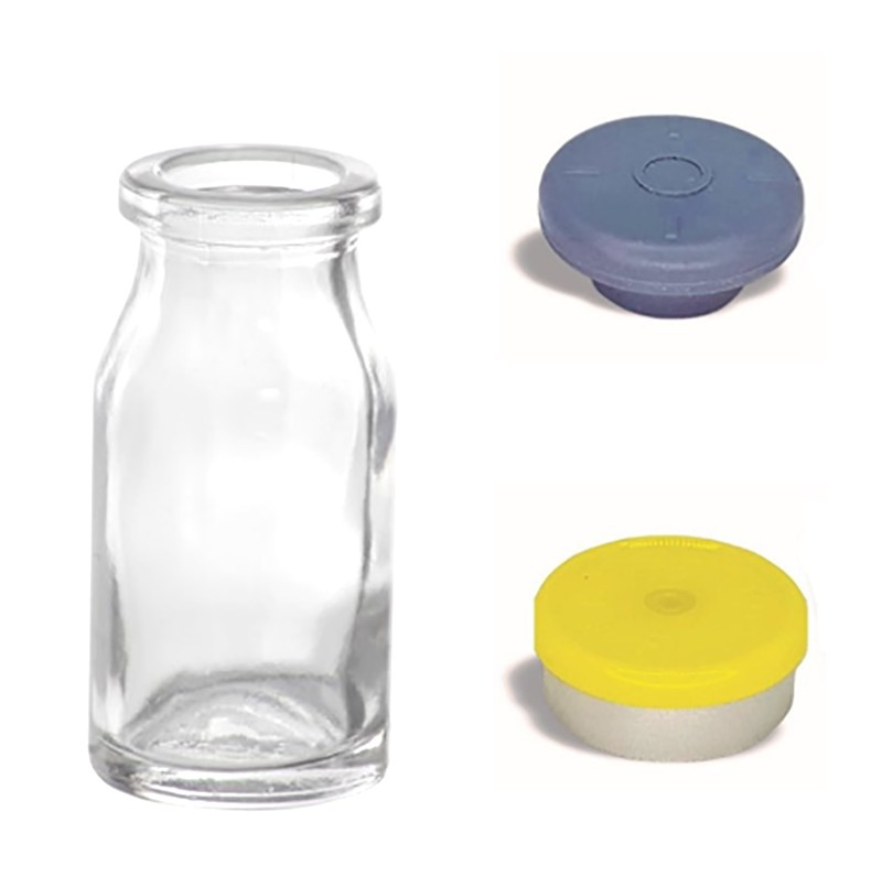 Frasco de Vidro Penicilina 10 ml com tampa flip off kit com 50 unid