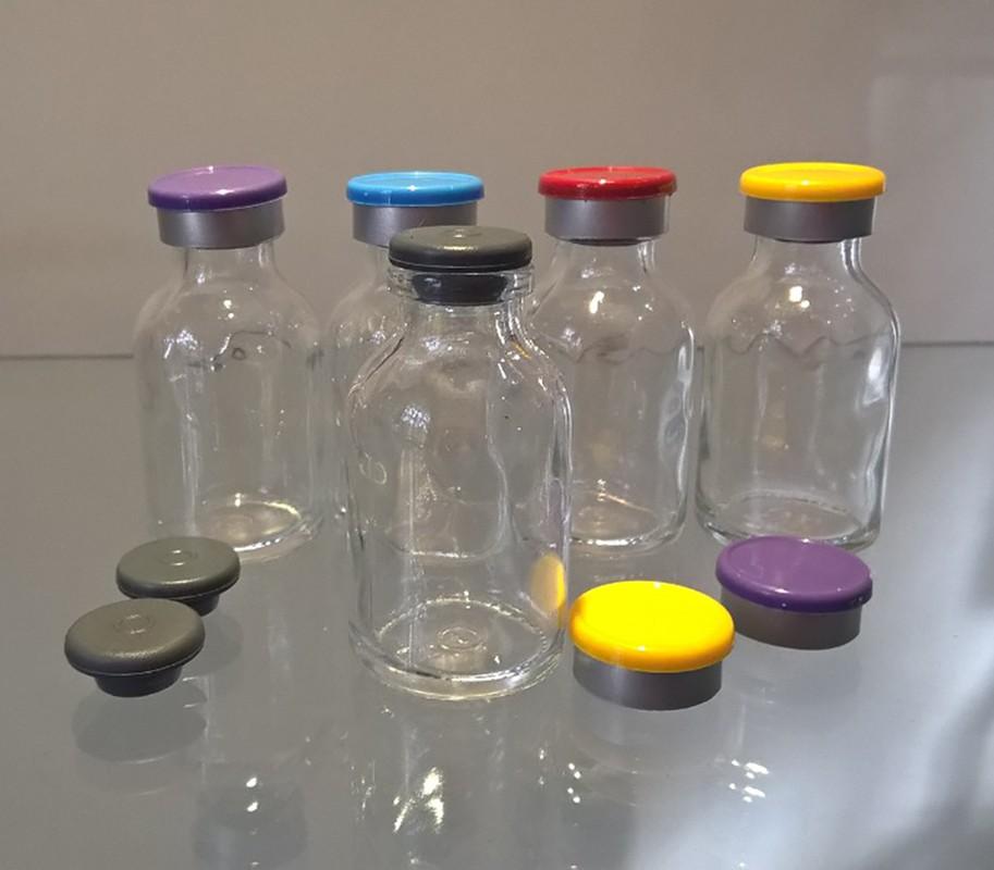 Frasco de Vidro Penicilina 8.5 ml com tampa flip off kit com 50 unid