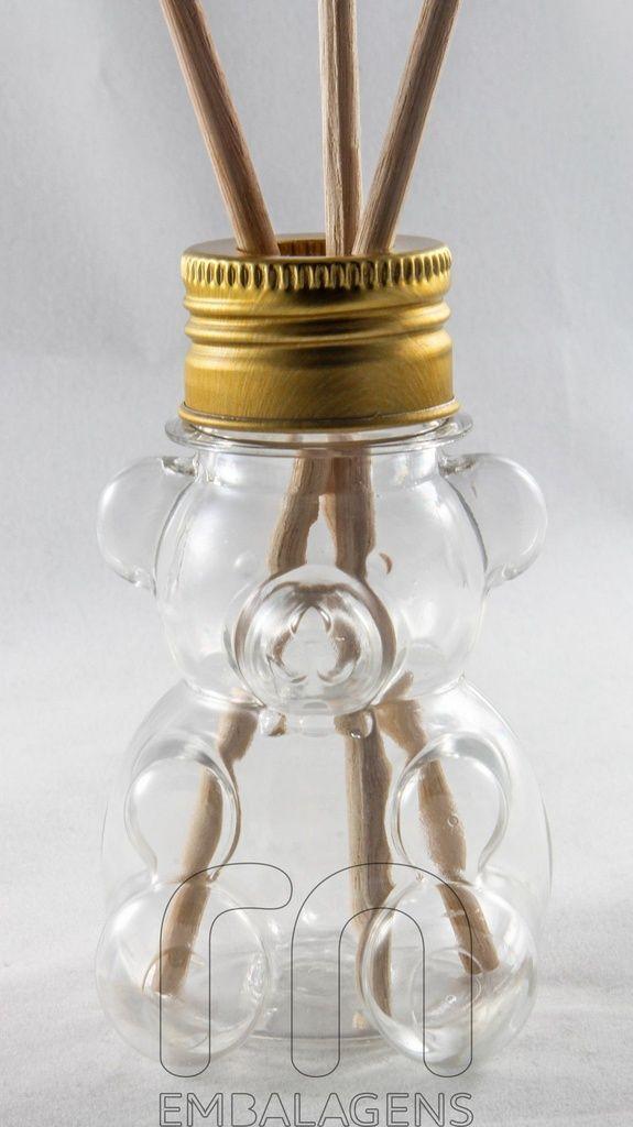 Frasco para Aromatizador Plástico de 80 ml Urso kit com 10 unid