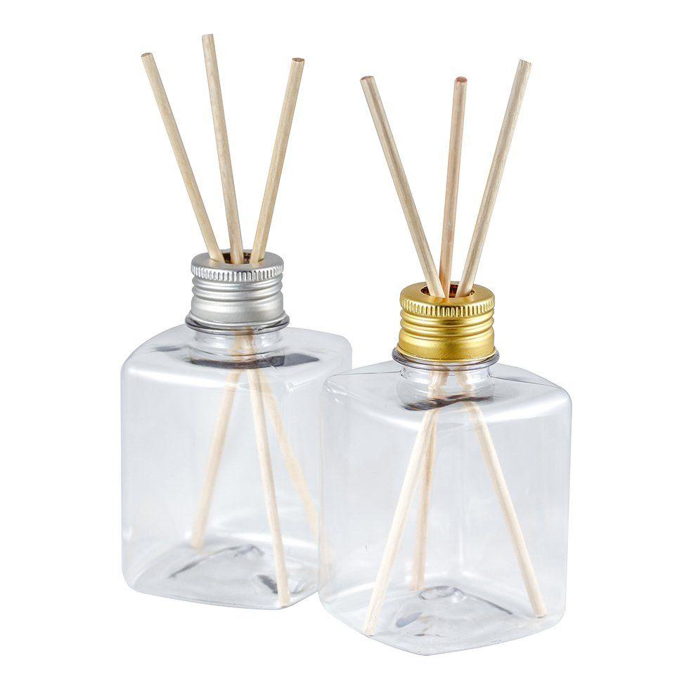 Frasco para Aromatizador Plástico Quadrado 250 ml fino kit com 10 unid