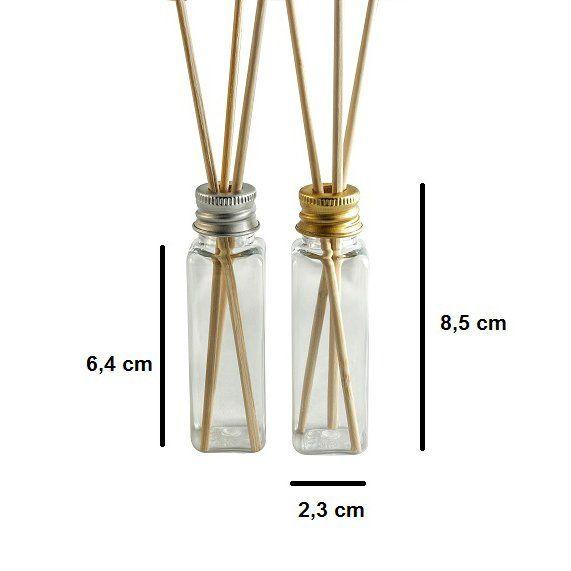 Frasco para Difusor 30 ml plástico Retangular kit com 10 unid
