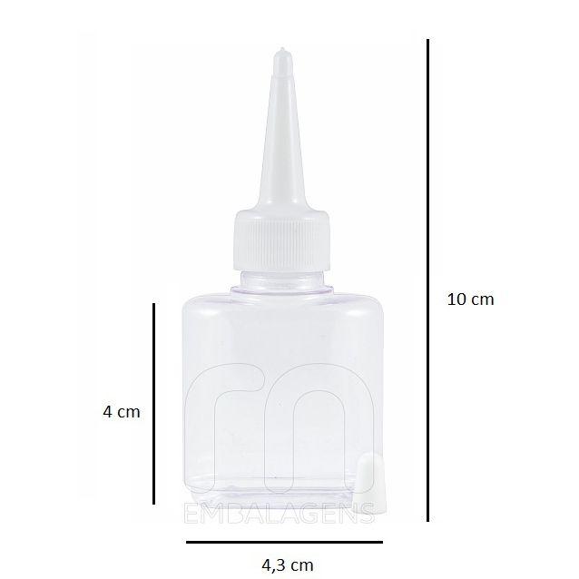 Frasco para Reparador de Pontas 30 ml com bico aplicador 50 unid