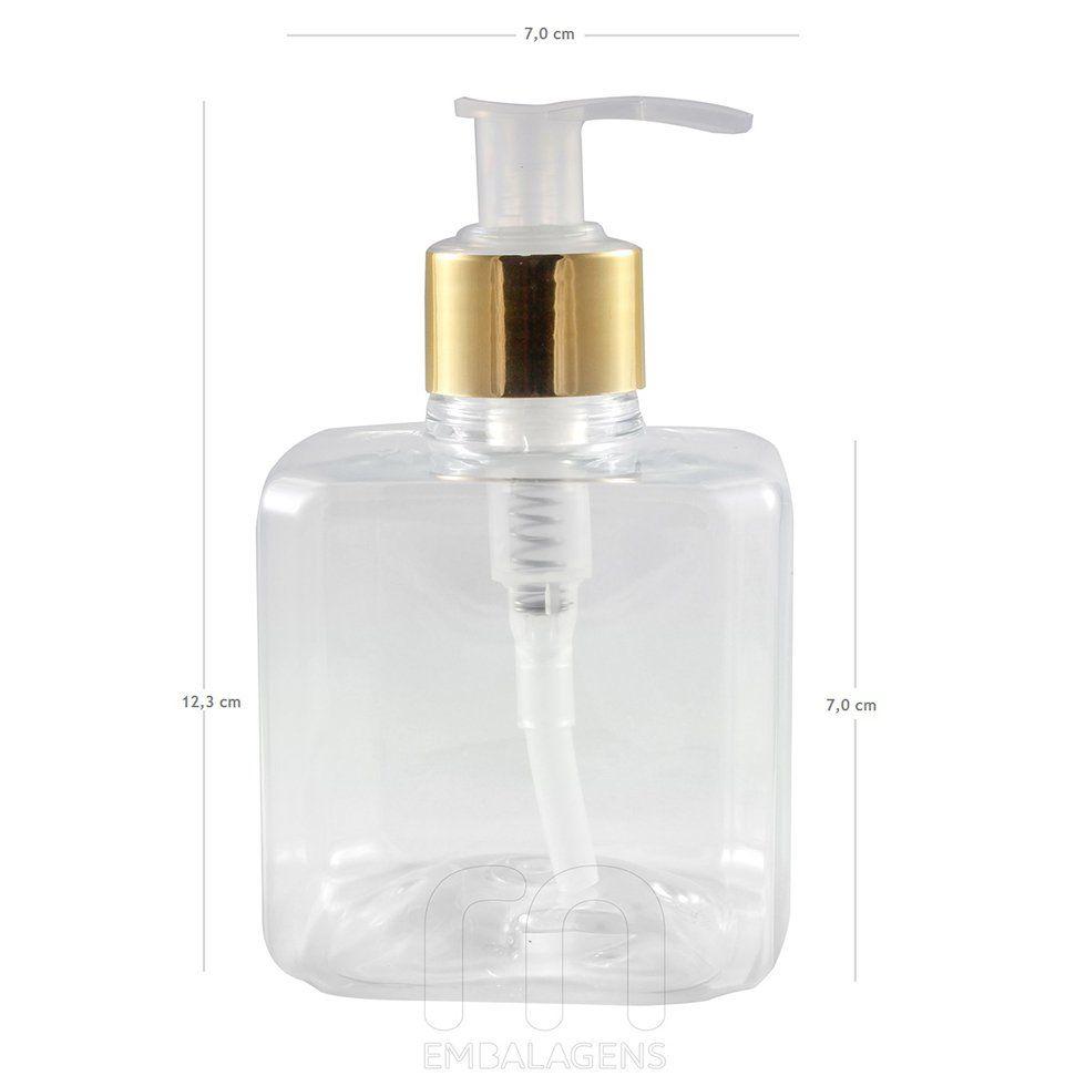 Frasco para Sabonete Líquido com válvula Luxo 300 ml kit 10 unid