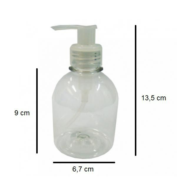 Frasco para Sabonete Líquido de 250 ml kit 10 unid