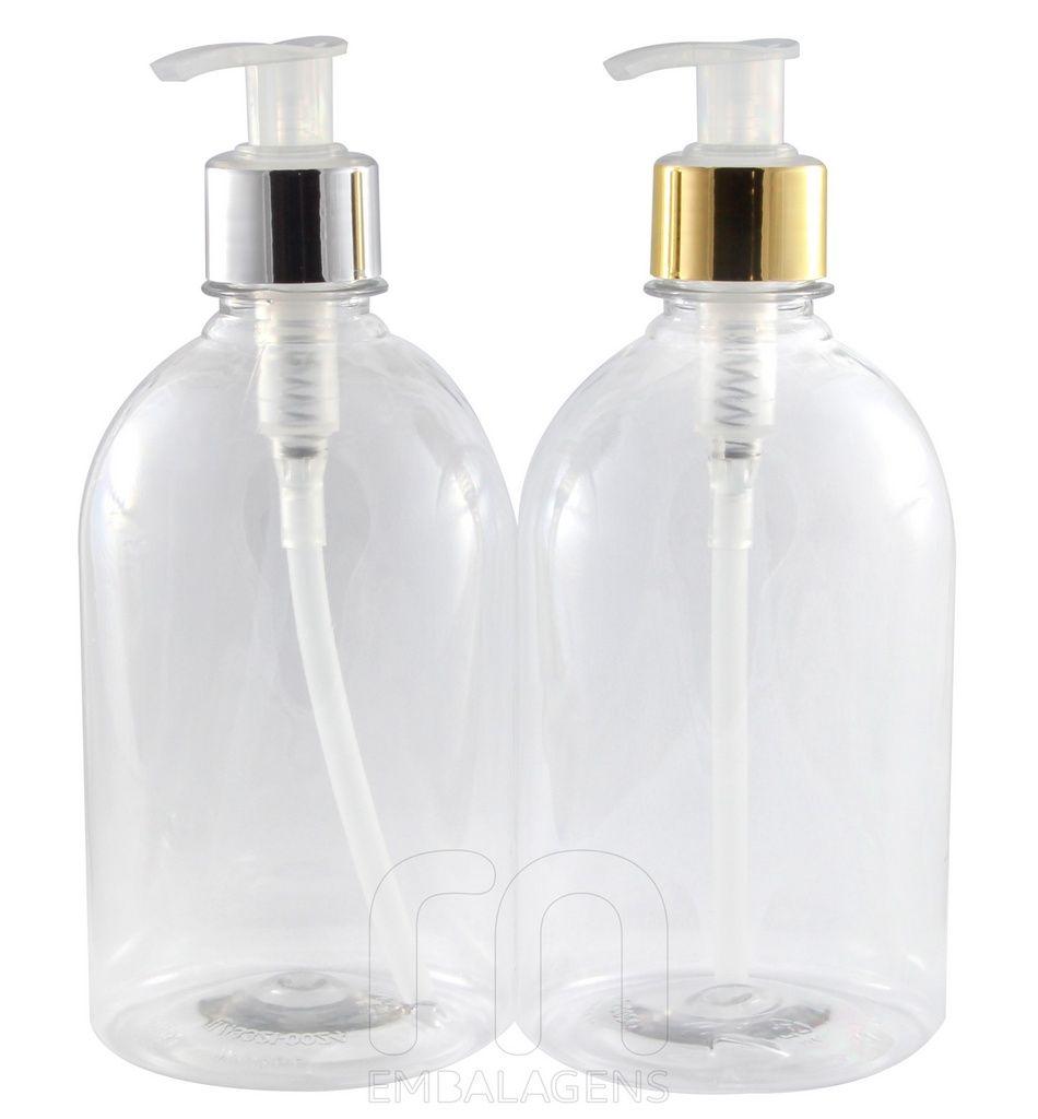 Frasco para Sabonete Liquido de 500 ml Luxo kit com 10 unid