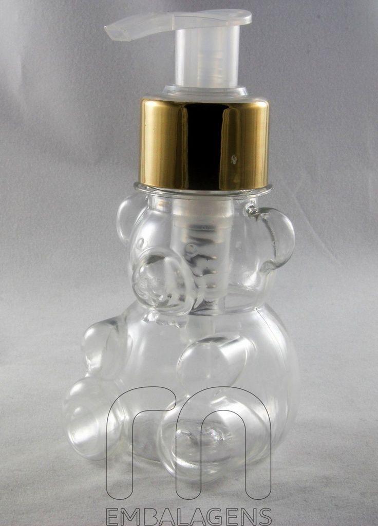 Frasco para Sabonete Líquido de 80 ml Urso kit com 10 unid