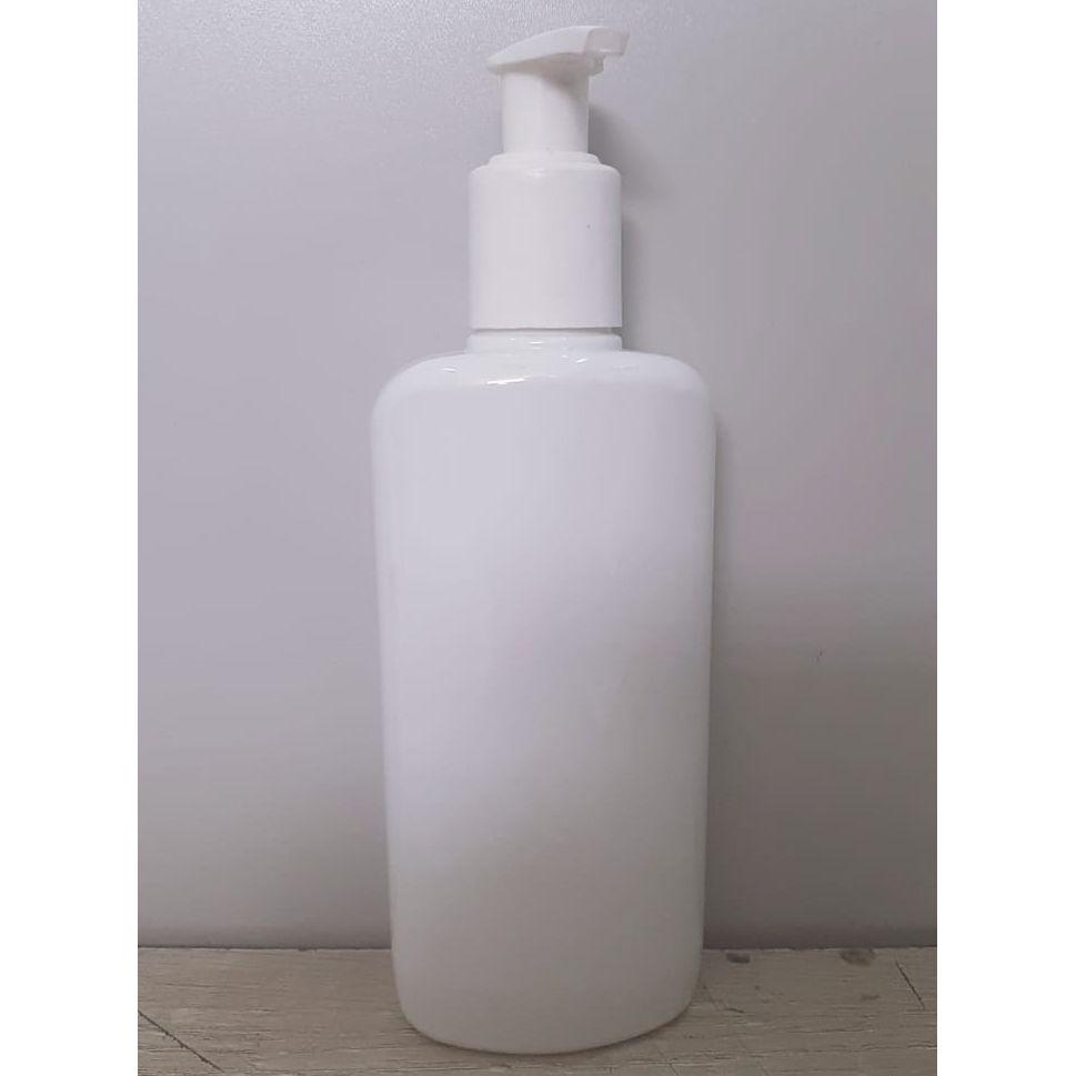 Frasco para Sabonete Líquido Oval Branco de 250 ml kit com 10 unid