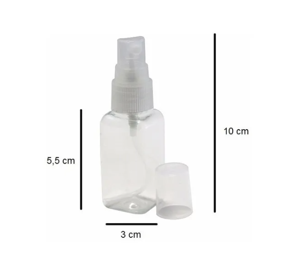 Frasco PET para aromatizador spray de 40 ml kit com 20 unid