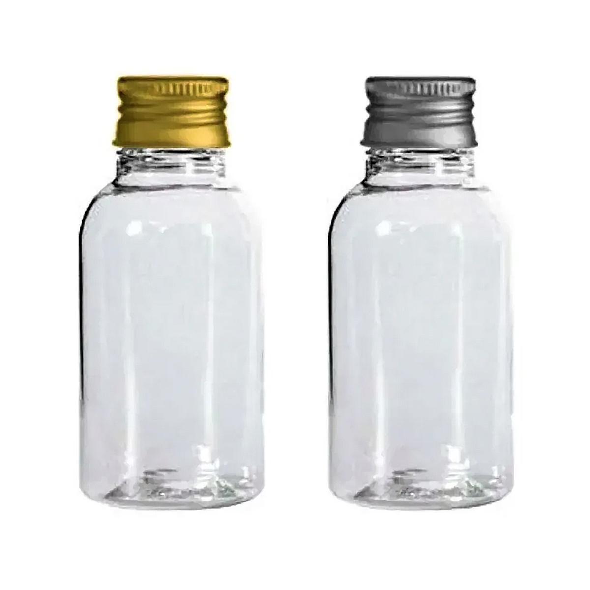 Frasco plástico 30 ml para água benta e lembrancinhas tampa metal 50 unid