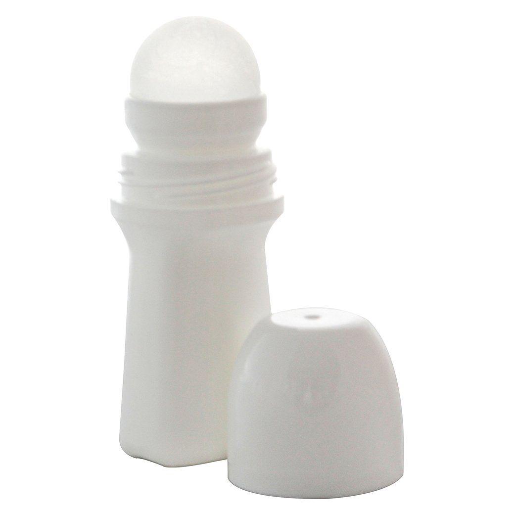 Frasco plástico desodorante roll on de 70 vazio kit com 10 unid