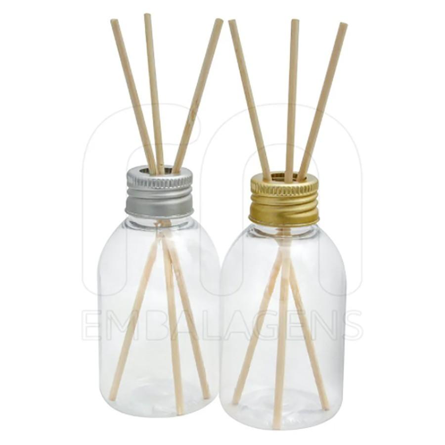 Frasco plástico para Aromatizador 100 ml com varetas kit com 100 unid