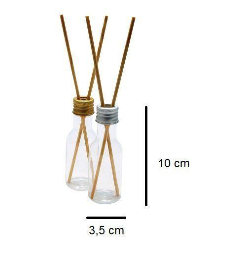 Frascos para Aromatizador Plástico de 50 ml  kit com 10 unid