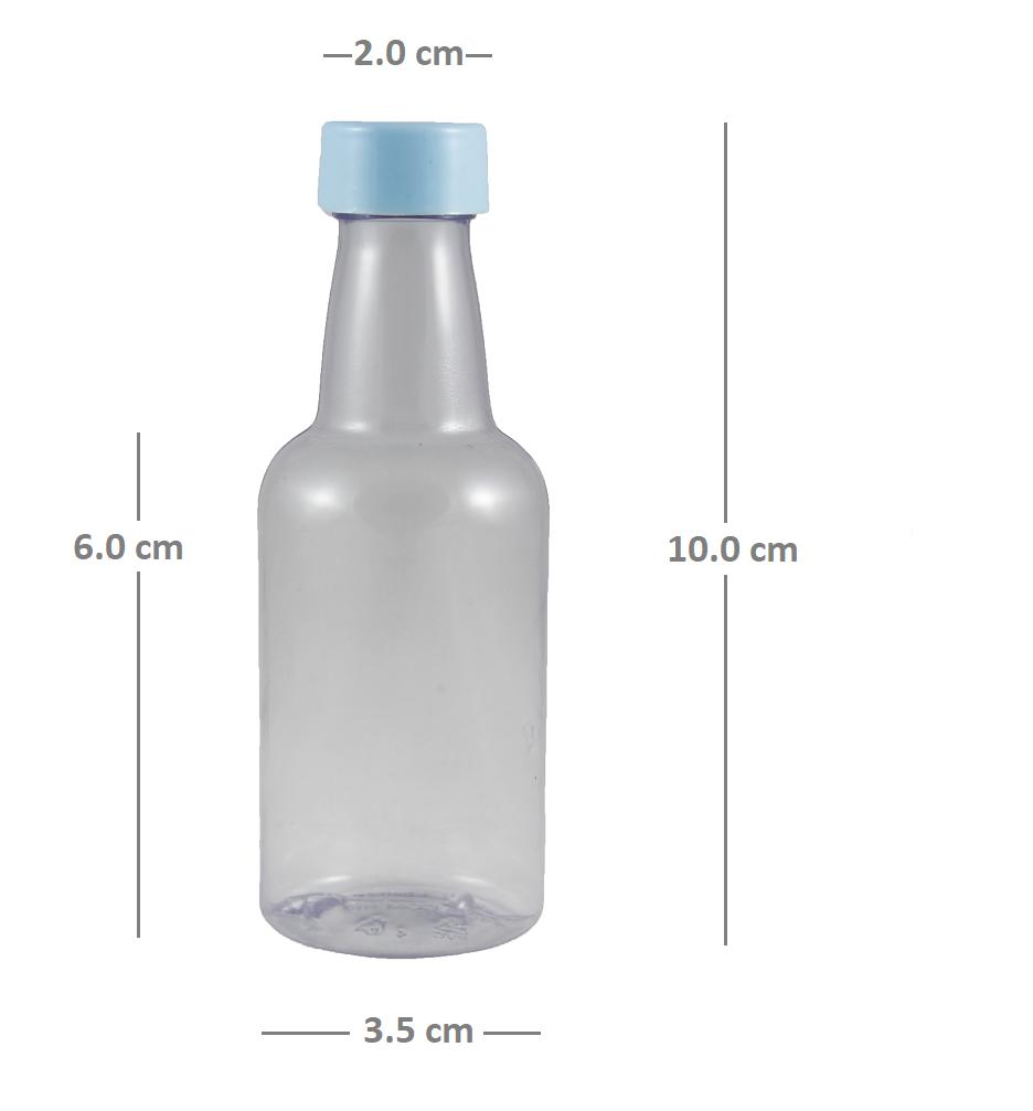 Garrafinha plástica Atacado 50 ml para Lembrancinhas PVC kit com 100 unid