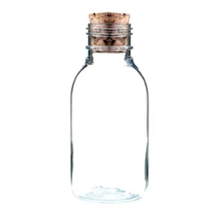 Garrafinhas para Lembrancinhas 30 ml Plástica com Rolha kit com 50 unid