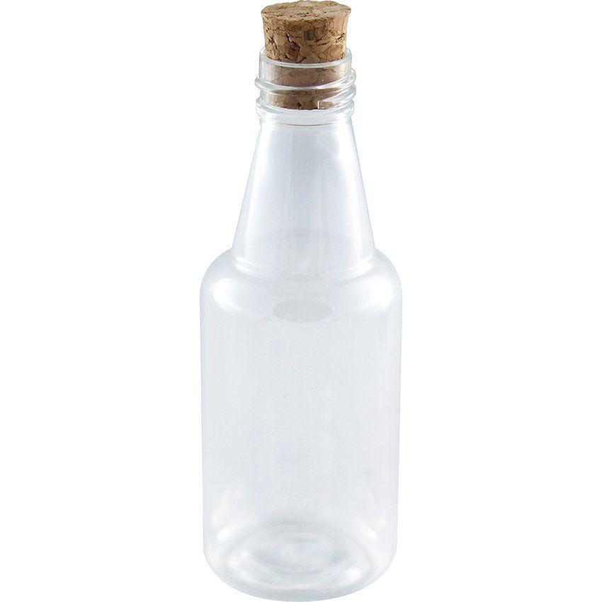 Garrafinhas para Lembrancinhas 50 ml Plastica com Rolha kit com 50 unid