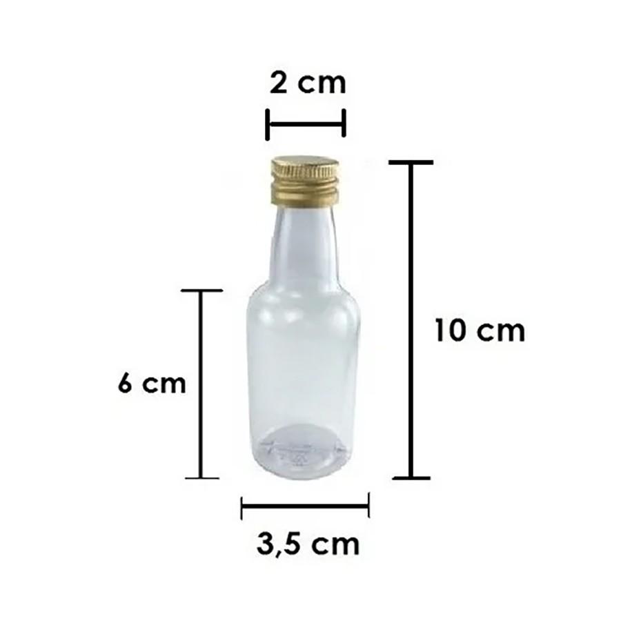 Garrafinhas para Lembrancinhas 50 ml Tampa Metal (25 unid.)