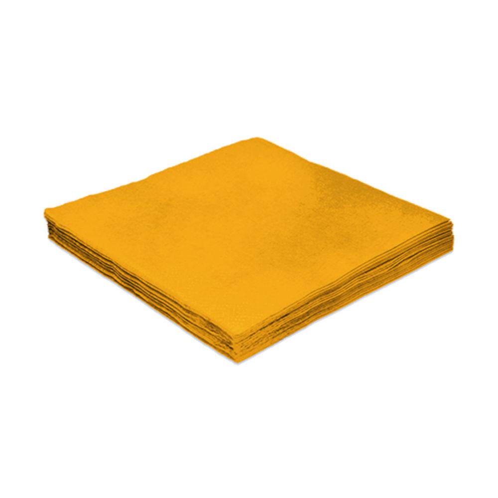 Guardanapo e papel 24 cm Liso Amarelo pct 20 unid