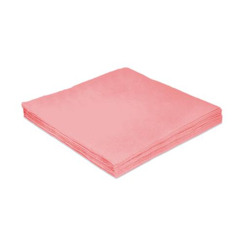 Guardanapo e papel 24 cm Liso Rosa pct 20 unid