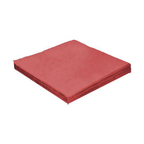 Guardanapo e papel 24 cm Liso Vermelho pct 20 unid