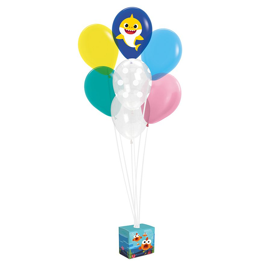 Kit de Balões para Decoração Baby Shark