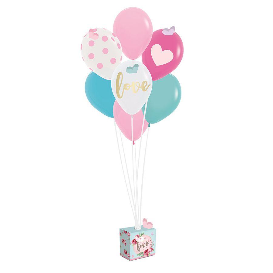 Kit de Balões para Decoração Tema Jardim Encantado