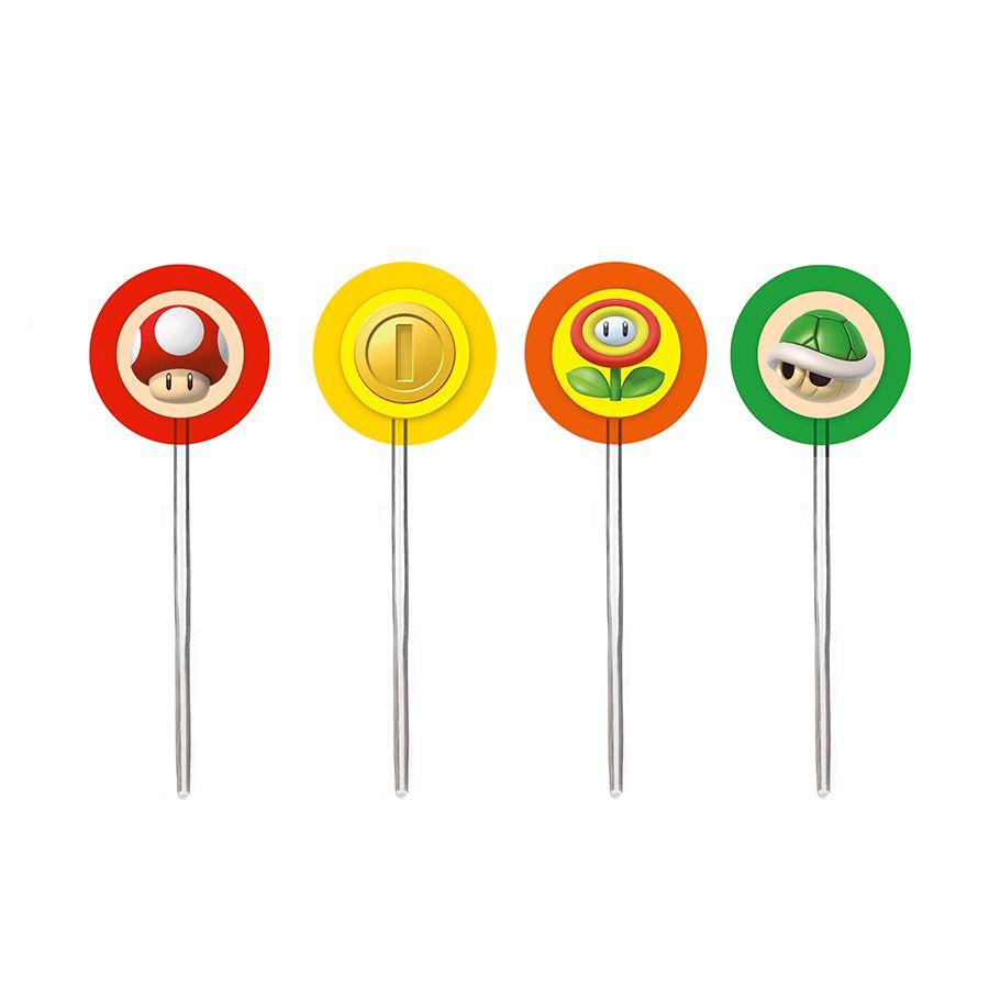 Kit Decoração de Bolo Pick Super Mario