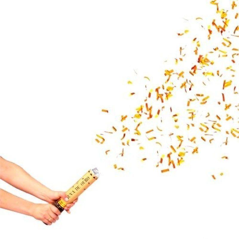Lança Confete chuva de ouro 40 cm