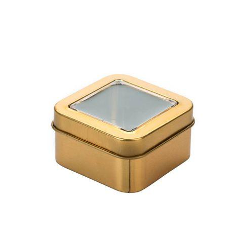 Latinha Quadrada para Lembrancinha com visor kit com 6