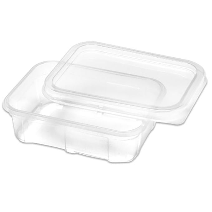 Marmita Descartável Plástica 750 ml com tampa pacote com 20 unid