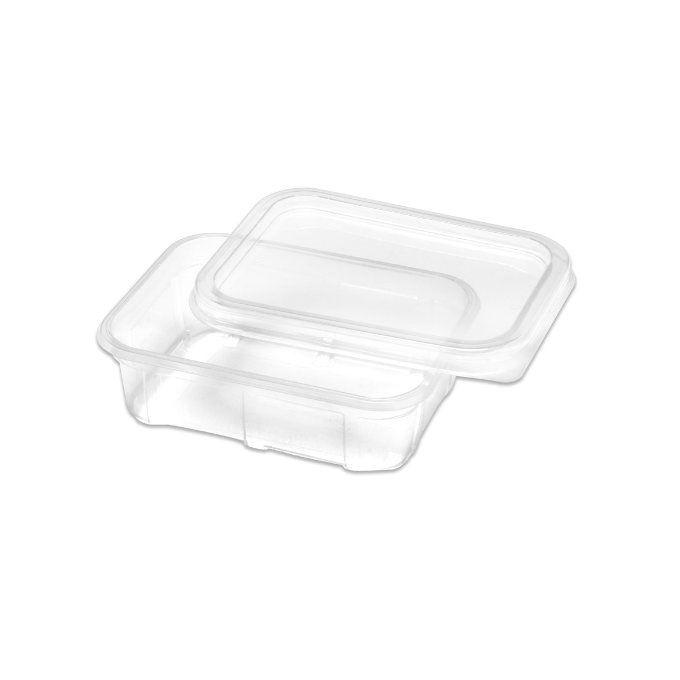 Marmitinha plástica 150 ml com tampa pacote com 20 unid