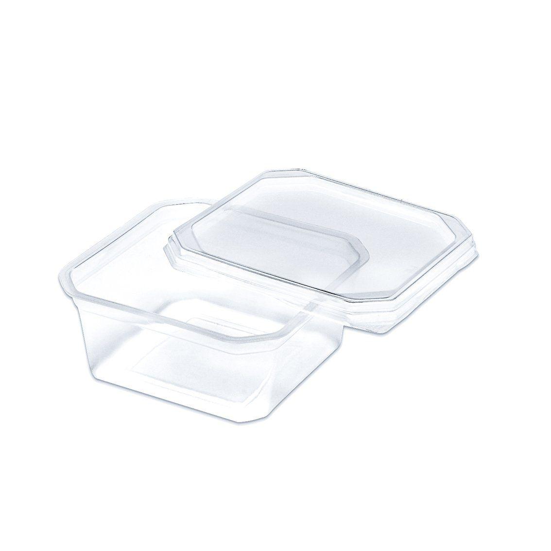 Marmitinha plástica 150 ml Quadrada pacote com 20 unid.
