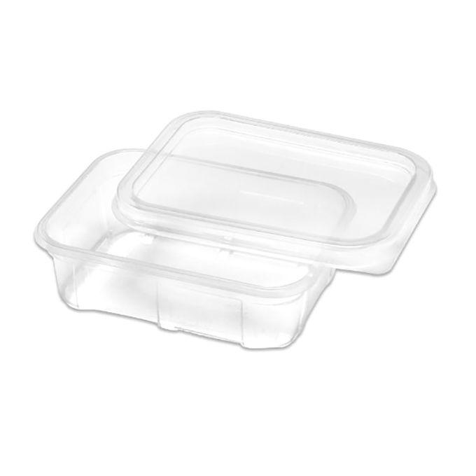 Marmita Descartável Plástica 200 ml com tampa pacote com 20 unid