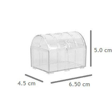 Mini Baú de Acrílico kit com 10 unid