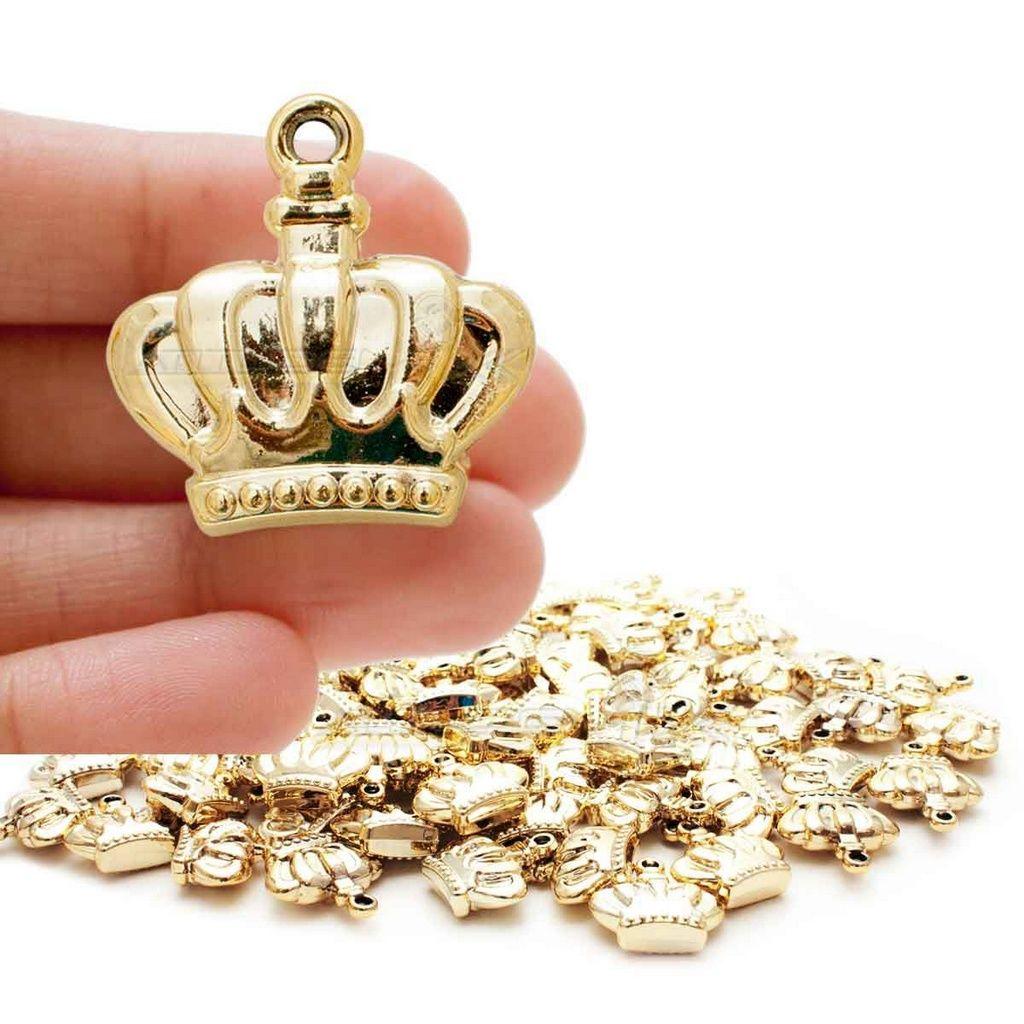 Pingente de Coroa para Lembrancinhas (10 unid.)