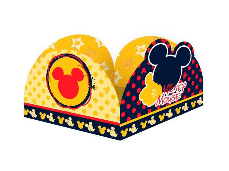 Porta forma de Brigadeiro do Mickey kit com 50 unid