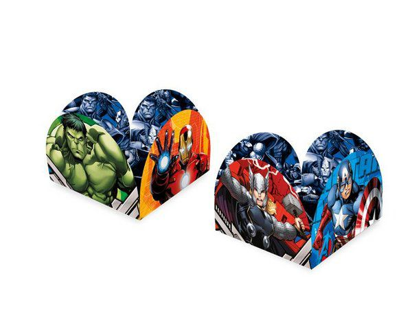 Porta Forma de Doces Avengers kit com 50 unid