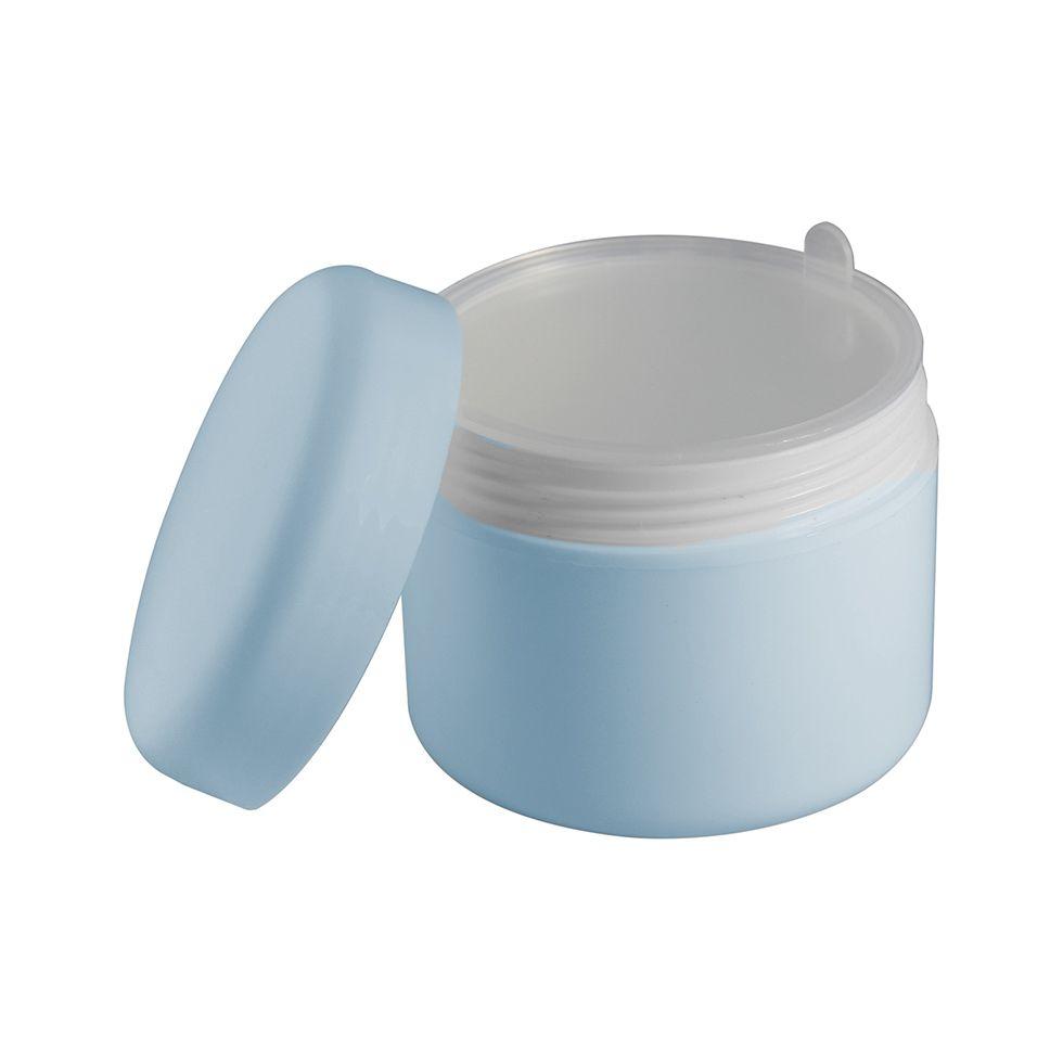 Pote Creme Fundo Falso Azul Bebê 30 ml kit com 25 unid