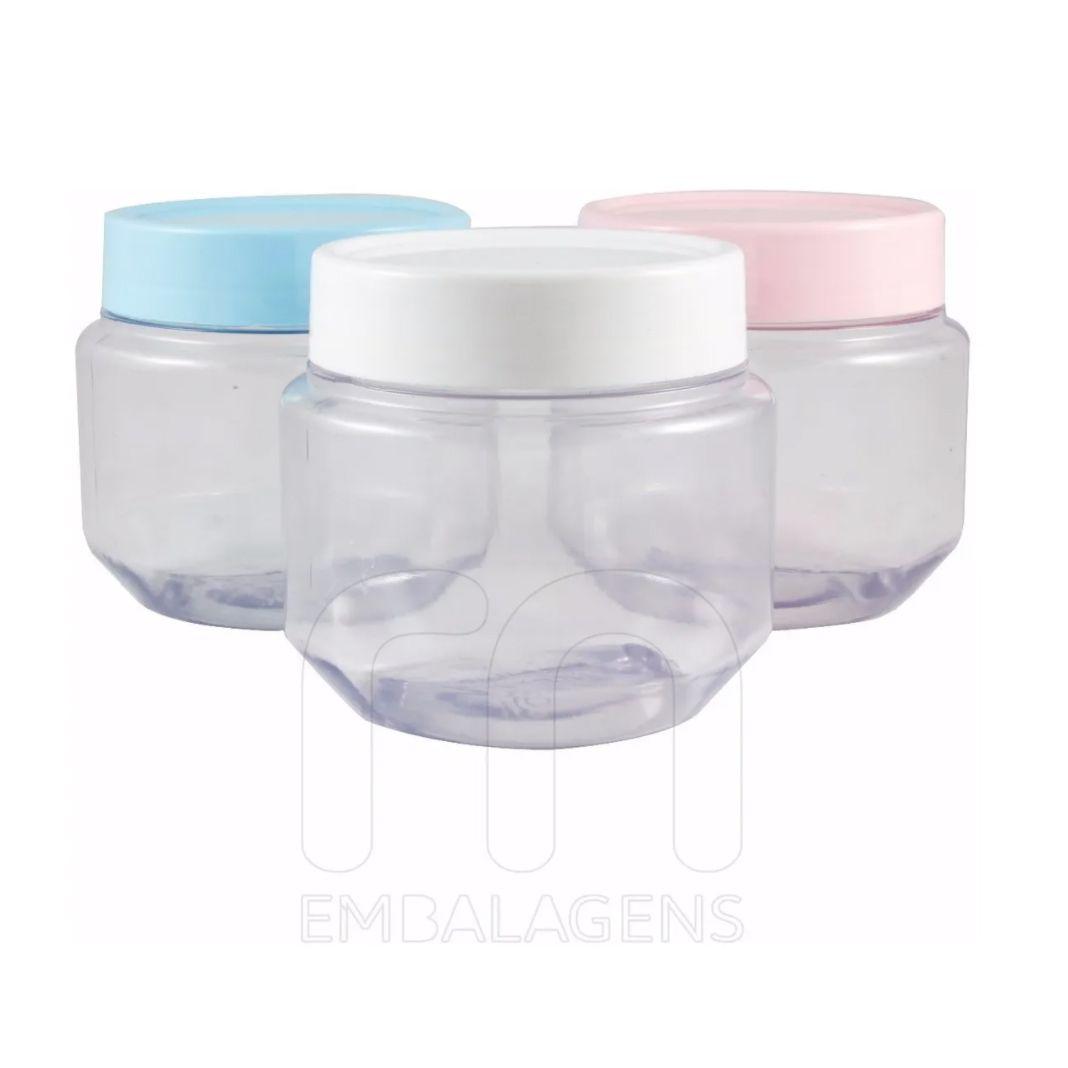 Pote de Papinha 120 ml de plástico PVC kit com 50 unid