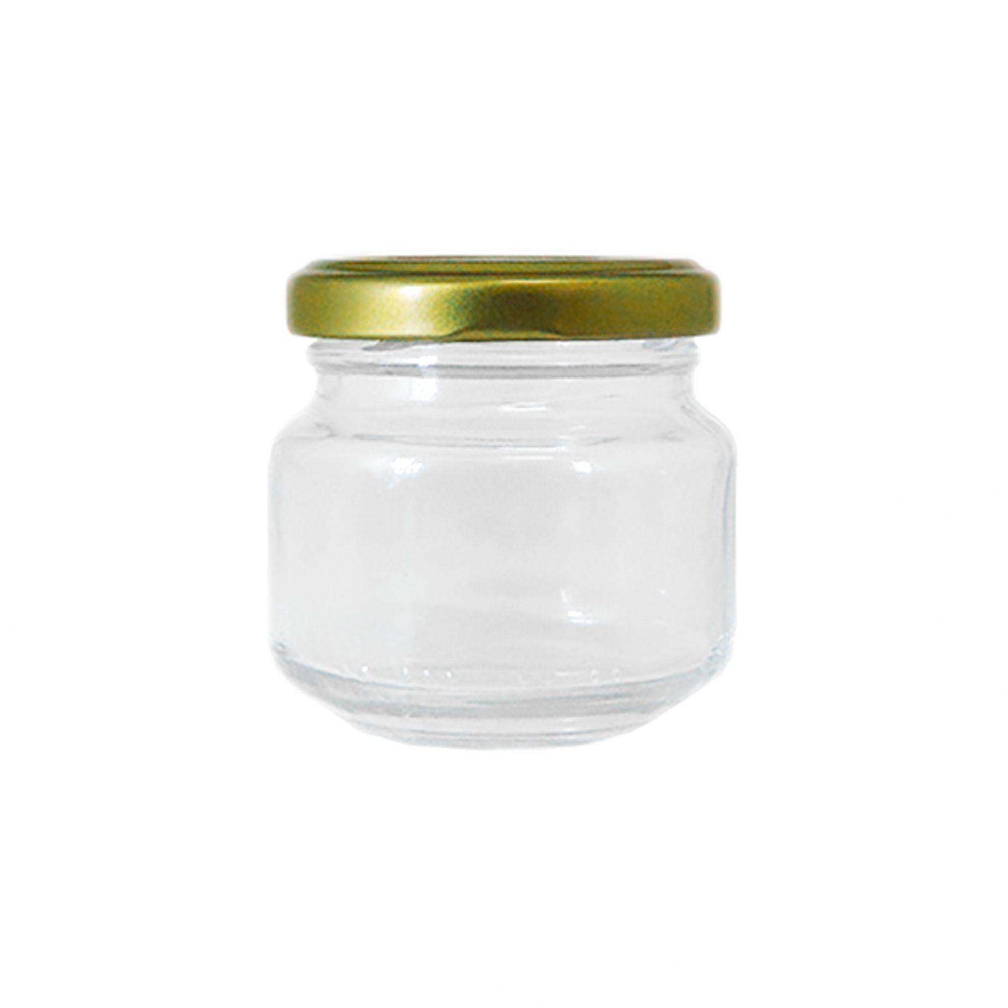 Pote de Vidro para Papinha Vazio de 122 ml com tampa kit com 10 unid