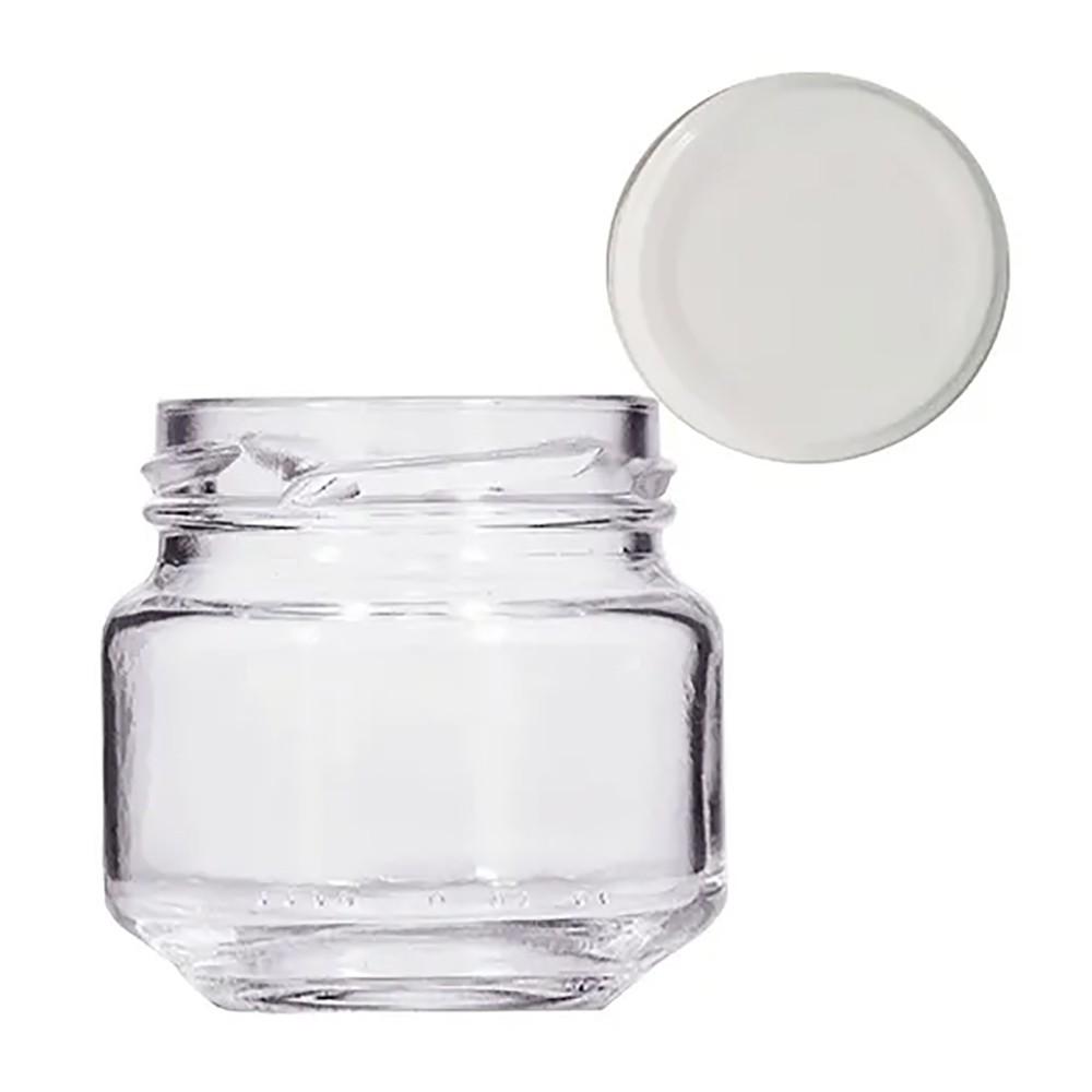 Pote de Vidro para Papinha Vazio de 122 ml com tampa kit com 30 unid