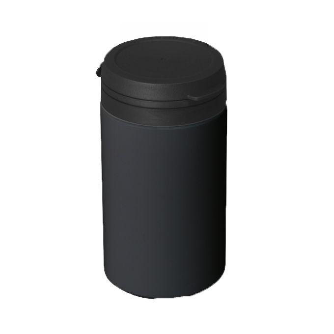 Pote para Cápsula com tampa lacre de pressão S-100 Preto pct com 50 unid