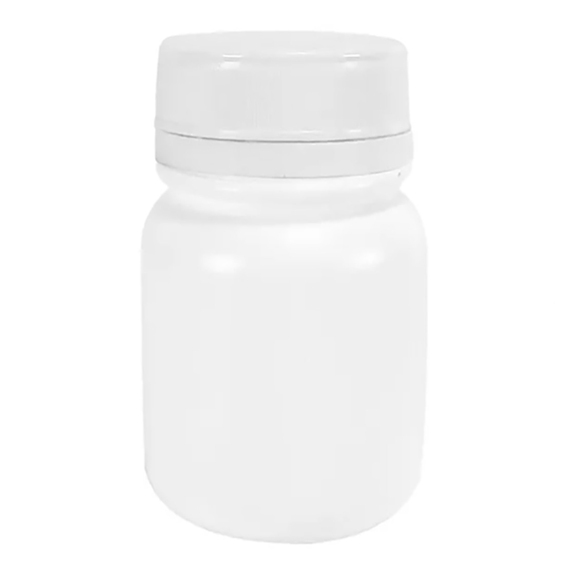 Pote Plástico para cápsula 120 ml Rosca Lacre kit com 150 unid