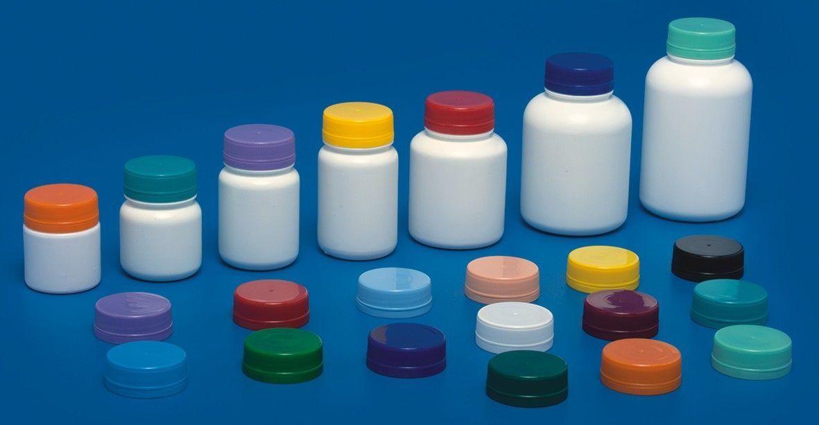 Pote Plástico para cápsula 60 ml Rosca Lacre kit com 10 unid