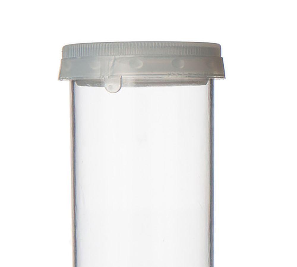 Potinho de Acrílico Cristal 70 ml tampa lacre kit com 100 unid