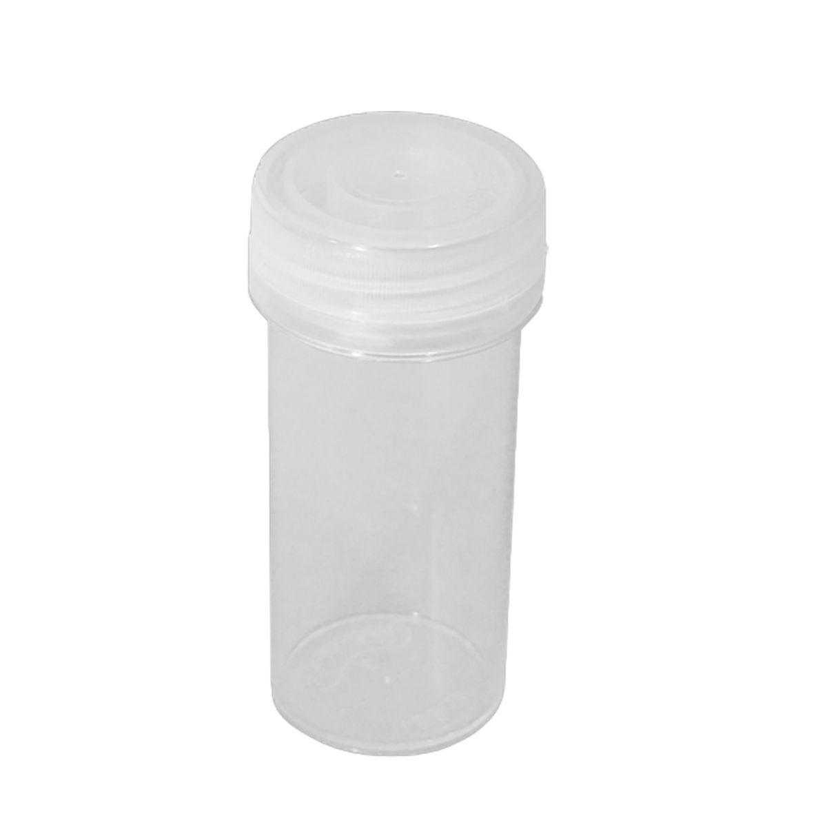 Potinho de Acrílico Cristal 80 ml com lacre kit com 50 unid