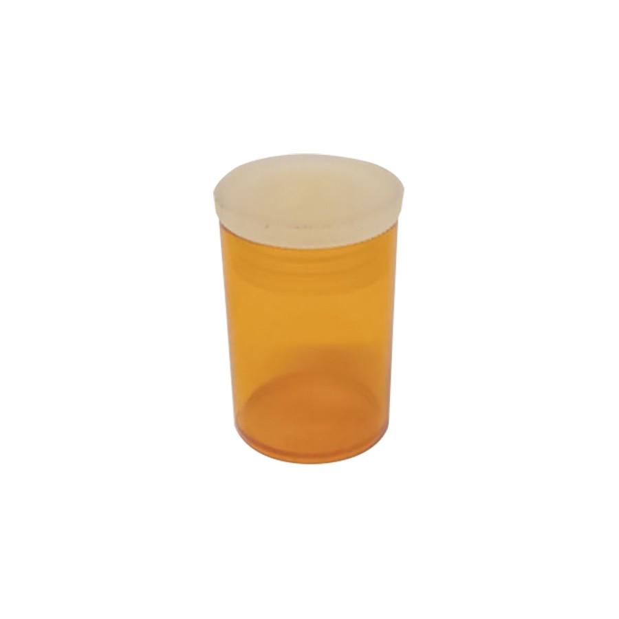 Potinho de acrílico de 7 ml âmbar para glitter kit com 100 unid