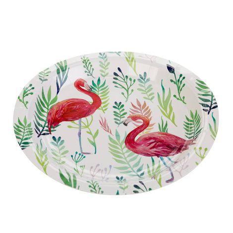 Pratinho Descartável de Papel Flamingo pct com 10 unid