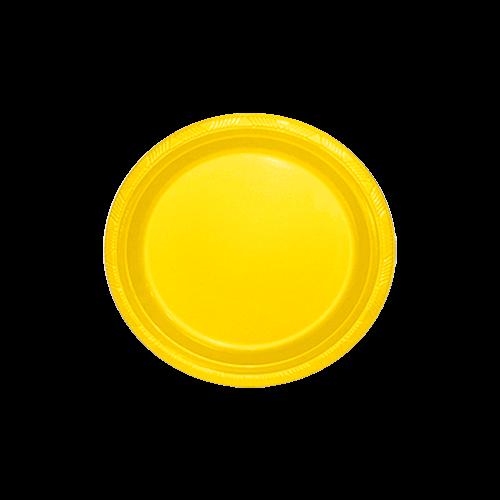 Pratinho para Sobremesa 18 cm Amarelo pacote com 10 unid